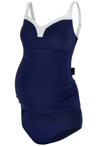 St Tropez Maternity Tankini in Navy