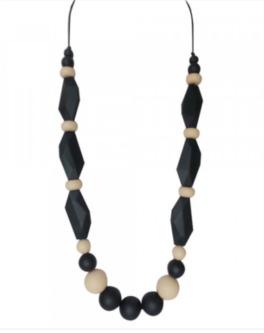 Tutti Rocks Teething Necklace - Tamara Black