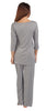 Radiance 3/4 Sleeve Pyjamas - Dove Grey