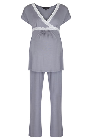 Radiance Short Sleeve Pyjamas - Dove Grey