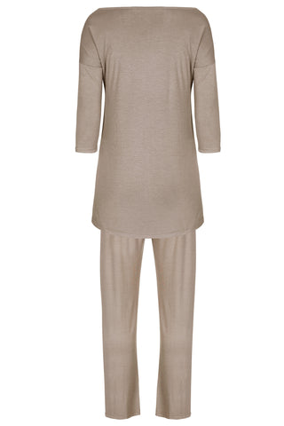 Indulgence 3/4 Sleeved Pyjamas - Mink