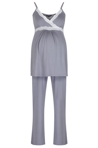 Radiance Camisole Pyjamas - Dove Grey