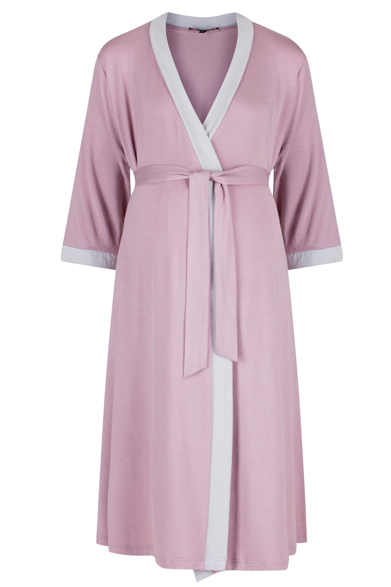 Vogue Dressing Gown - Dusky Pink - MamaMoosh