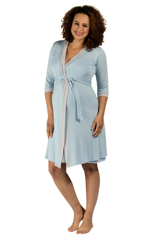 Vogue Dressing Gown - Pale Blue