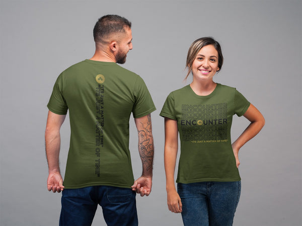 Encounter It's Just a Matter of Time T-Shirt - Olive