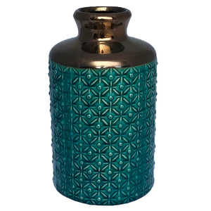 Small Teal Vase