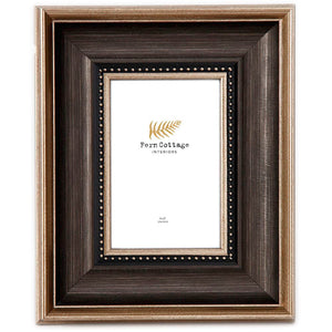 Black and Gold Brushed Photo Frame 4x6