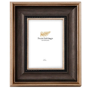 Black and Gold Brushed Photo Frame 5x7