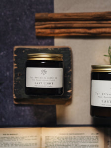 Last Light Scented Soy Candle In Amber Jar - Small