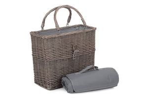 Grey Chiller Basket and Picnic Blanket