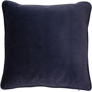 Large Luxe Navy Putty Cushion