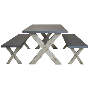 Concrete & Wood Dining Set
