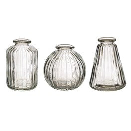 Sass & Belle Plain Glass Vases - Set of Three