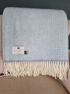 Forager Illusion Panel Blanket - Grey & Duck Egg