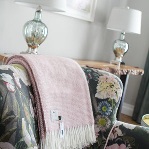 Dusty Pink Beehive Blanket