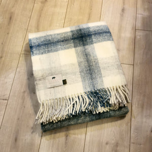 Forager Ink Meadow Check Knee Blanket