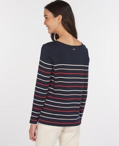 Barbour Hawkins Stripe Top - Navy