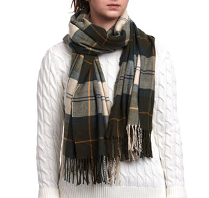 Barbour Modern Country Tartan Scarf - Ancient