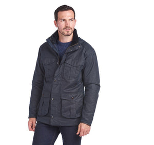 Barbour Latrigg Wax Cotton Jacket - Navy