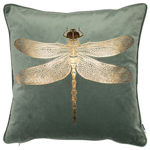 Copper Dragonfly Cushion