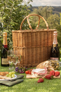 Green Tweed Cooler Basket