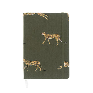 Sophie Allport Cheetah A5 Fabric Notebook