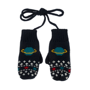 Knitted Kids Mittens - Space