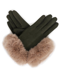 Powder Bettina Faux Suede Gloves