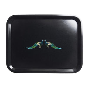 Sophie Allport Large Printed Tray - Peacocks