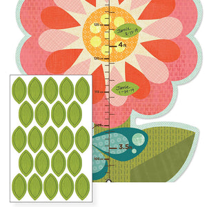 Petit Collage Garden Flowers Folding Growth Chart
