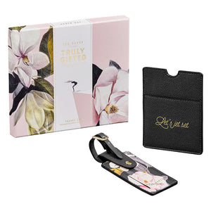 Ted Baker Travel Set - Passport Holder & Luggage Tag