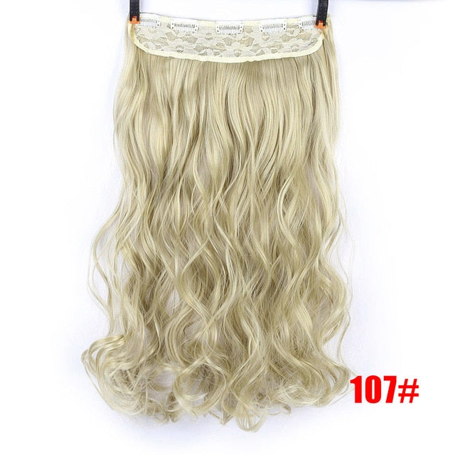 SHANGKE 70cm 5 Clip In Hair Extension Heat Resistant Fake Hairpieces Long Wavy Hairstyles Synthetic Clip In On Hair Extensions