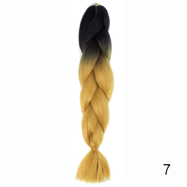 Hair Braid Synthetic Hair Extensions Jumbo False Braid Ombre Braiding Hair Pink Grey Blue Color