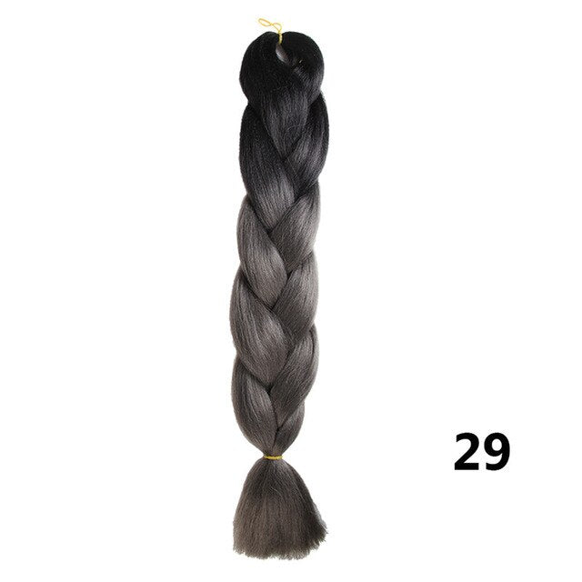 Sambraid 24 Inch Ombre Jumbo Braiding Hair For Jumbo Braids 100g/Pack False Hair Synthetic Crochet Braids Hair Extensions