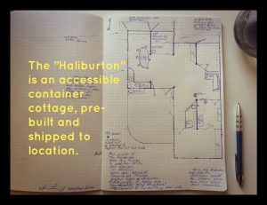 the haliburton accessible container home plans