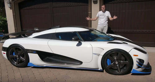 Personalized & Signed Doug Photo (Koenigsegg Agera)