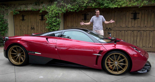 Personalized & Signed Doug Photo (Pagani Huayra)
