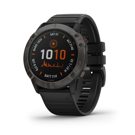 Garmin Fenix 6X Pro Black w/ Black Band GPS Watch