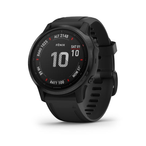 Garmin Fenix 6S Pro Black w/Black Band GPS Watch