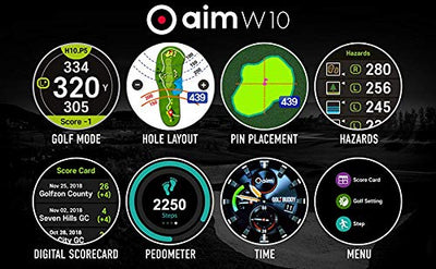 Golf Buddy aimW10 Smart Golf GPS Watch