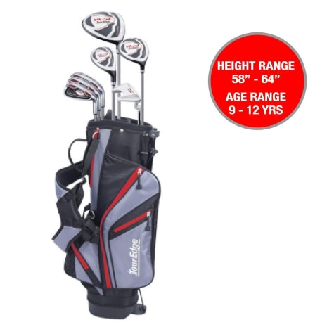 Tour Edge HL-J Junior Set Red Ages 9-12