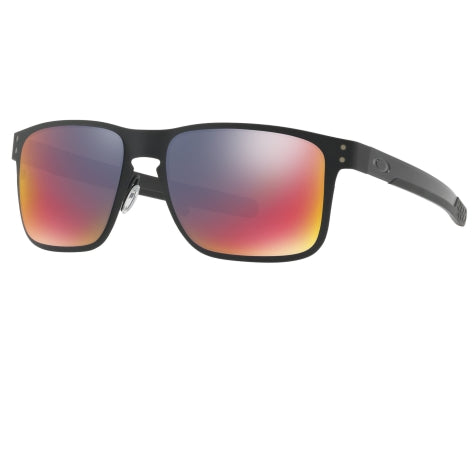 Oakley Holbrook Metal Matte Black Red Sunglasses