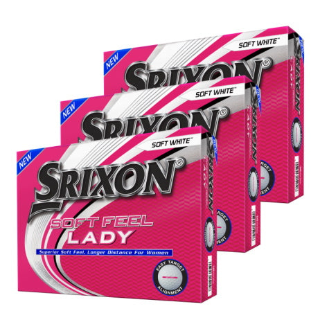Srixon Soft Feel Lady 7 White Golf Balls 3 Dozen - Buy 2, Get 1 Free