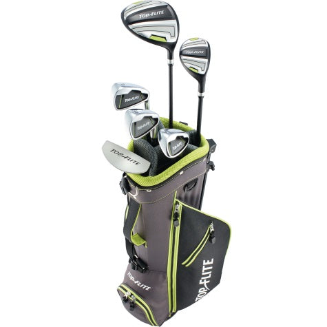 Top-Flite Boys 9-Piece Complete Golf Set w/Bag Volt Right Hand Ages 9-12