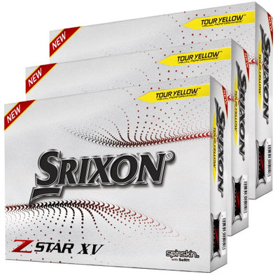 Srixon Z XV Star 7 Tour Yellow Golf Balls 3 Dozen