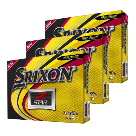 Srixon Z Star 6 Yellow Golf Balls 3 Dozen - Buy 2, Get 1 Free