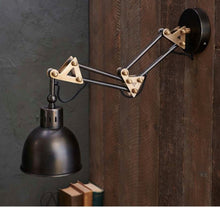 Load image into Gallery viewer, Akono Extendable Wall Light - Aged Bronze - 75 X 16.5cm (dia