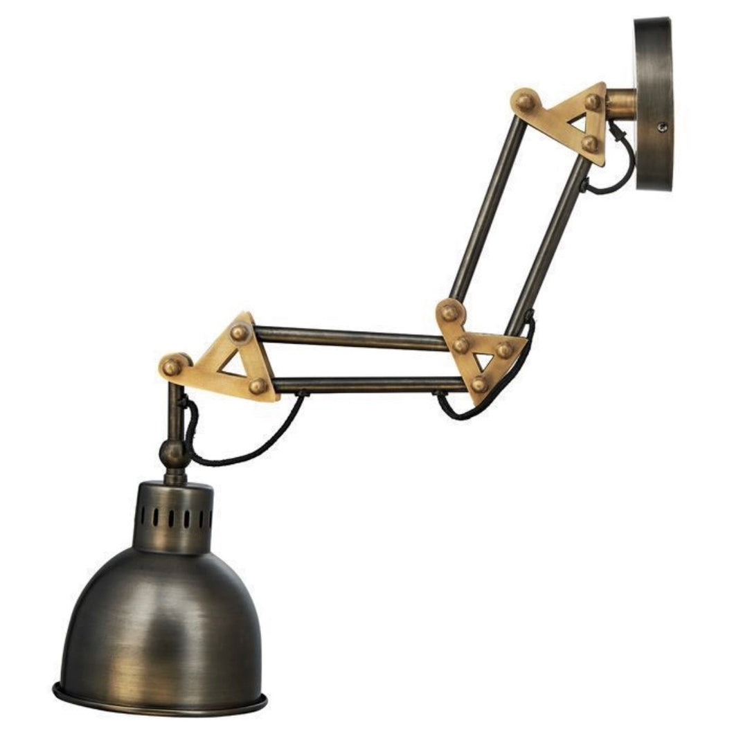Akono Extendable Wall Light - Aged Bronze - 75 X 16.5cm (dia