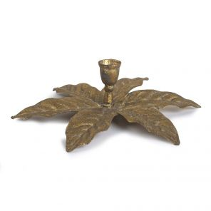 Candle Holder Gold Palm