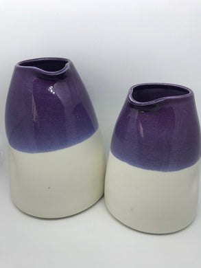Large Hand Thrown Porcelain Jug- Assorted Colours